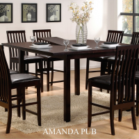 amanda 7pc pub dining set