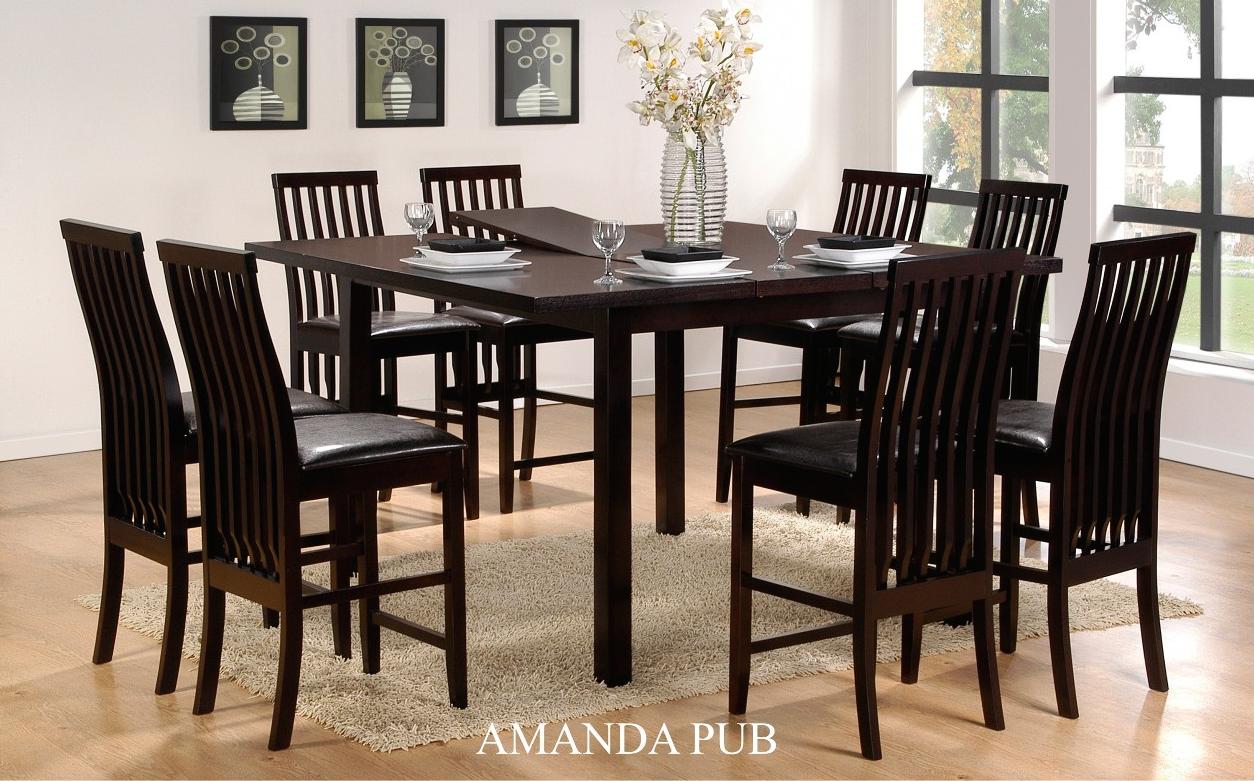Casa Blanca Amanda Pub 9Pcs Dining Set