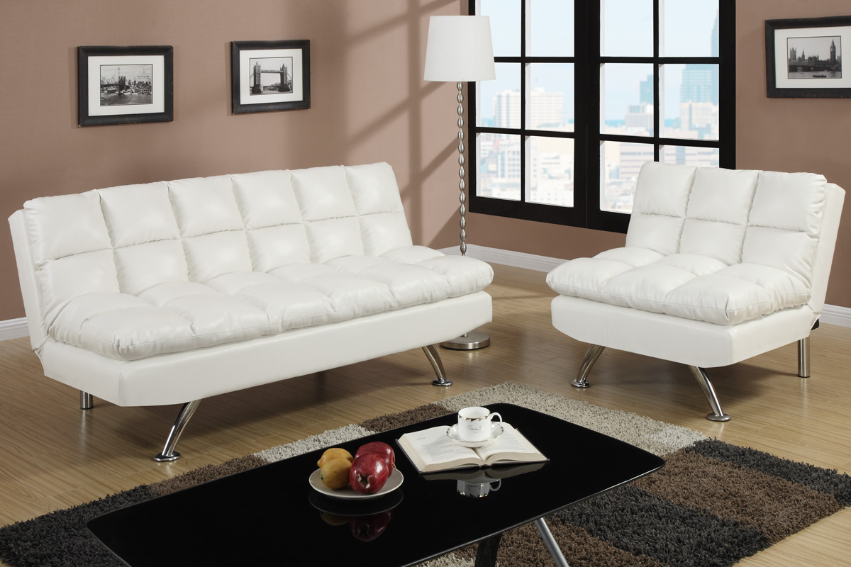 007015 Futon White – Furniture Mattress Los Angeles and El Monte