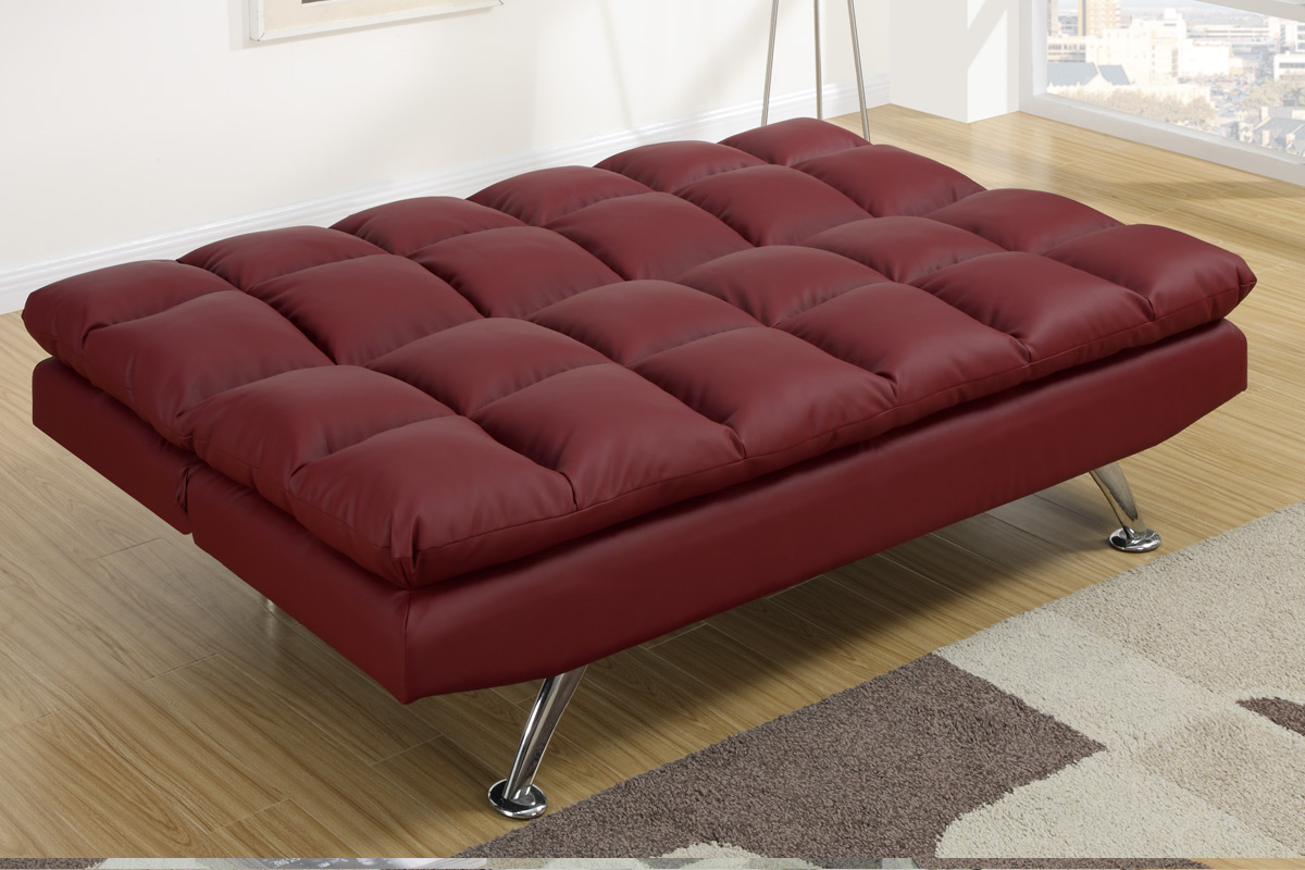 bed sofa best ca futons selection category black en leather beds canada transitional red buy bergen huge futon
