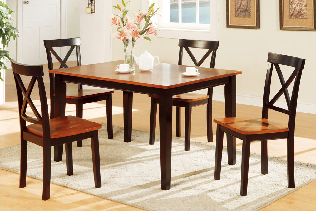 5pc Wood Dining Set F2250 Furniture Mattress Los Angeles