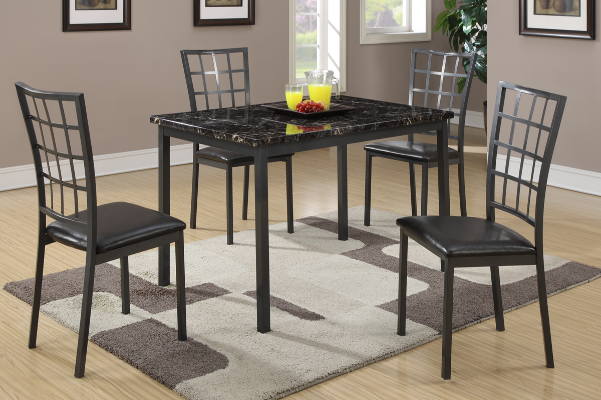 Metal dining room sets