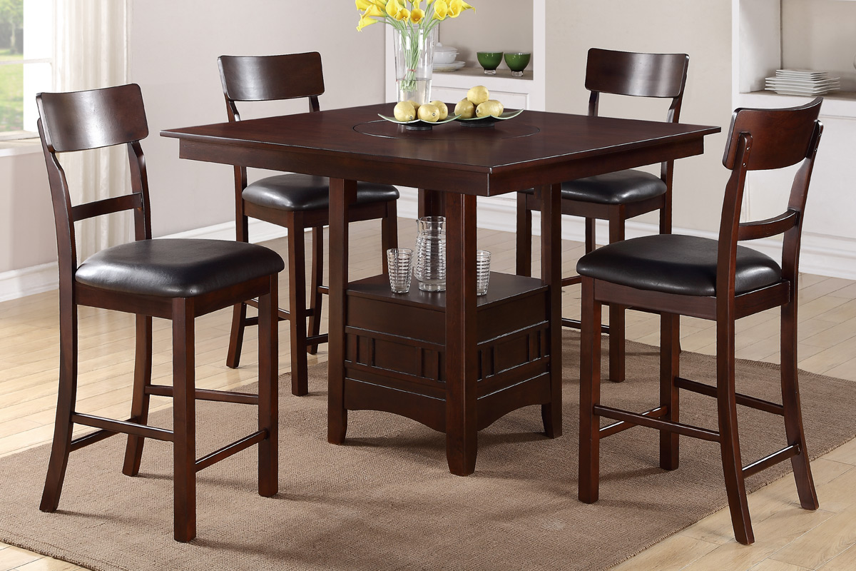 Counter Height Wood Dining Set F2115 Furniture Mattress