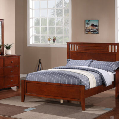 twin wood bed f9047t color medium oak