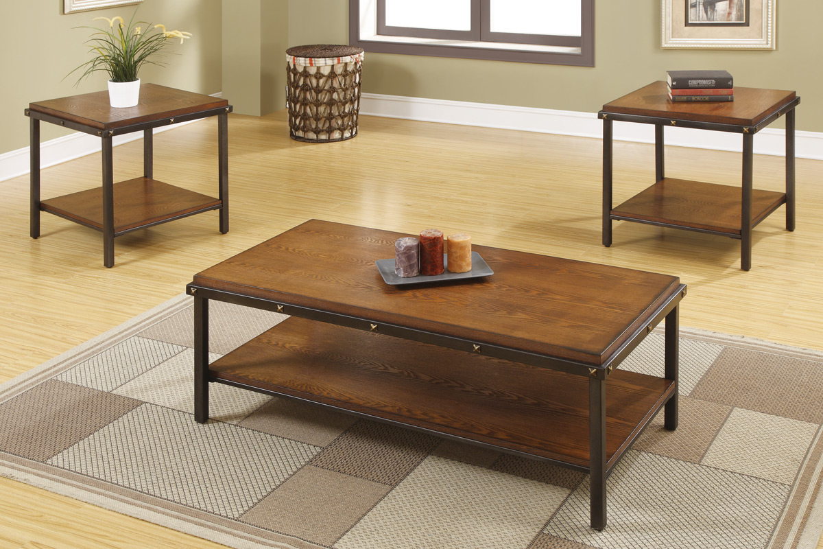 3Pcs Coffee Table Set F3160 Furniture Mattress Los Angeles and