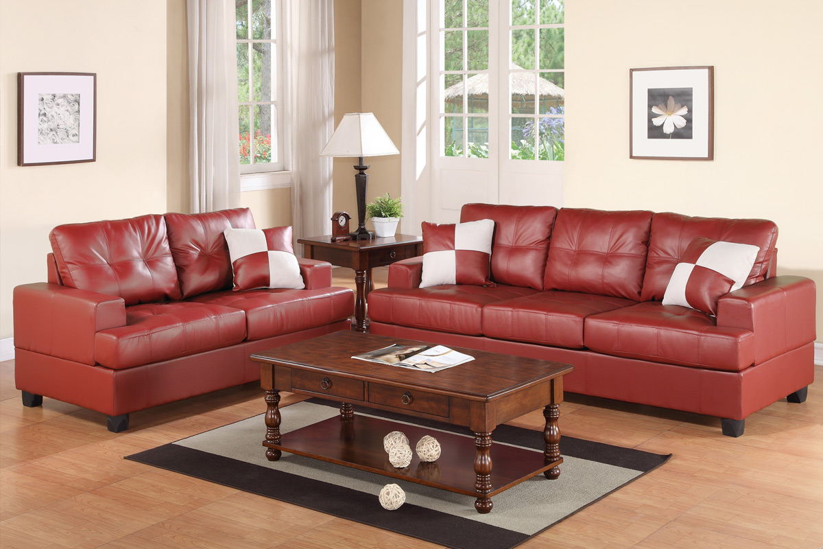 2-PC Sofa Set F7579 Red