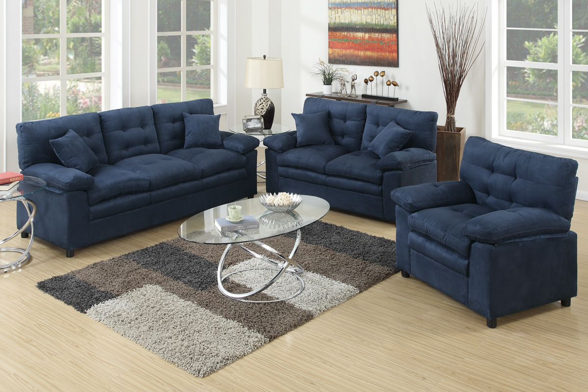 3 Pcs Sofa Set F7907 Color Ash Furniture Mattress Los Angeles  ~ Sofa Loveseat Chair Sets