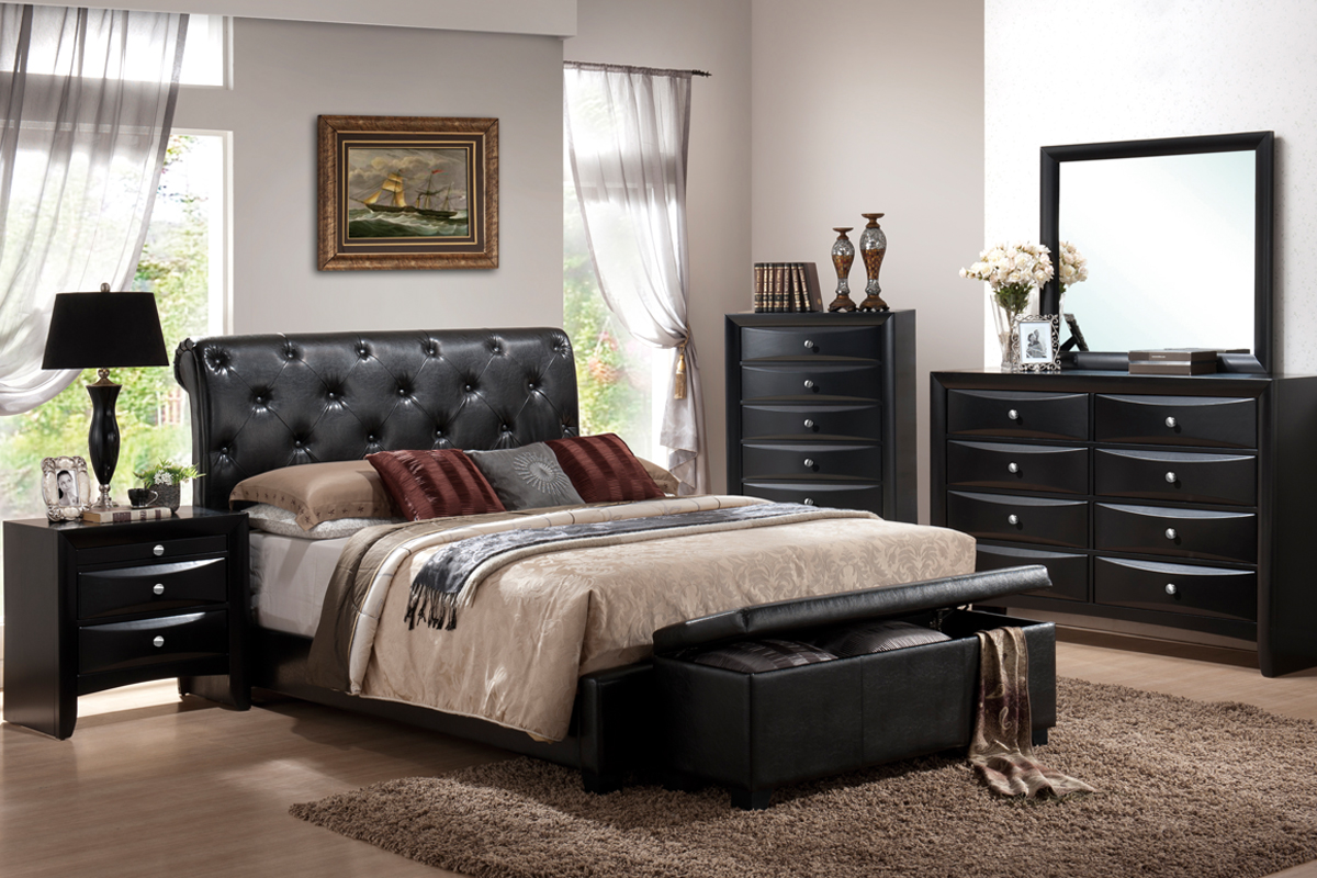 F9157 Queen Bed Frame – Furniture Mattress Los Angeles and El Monte