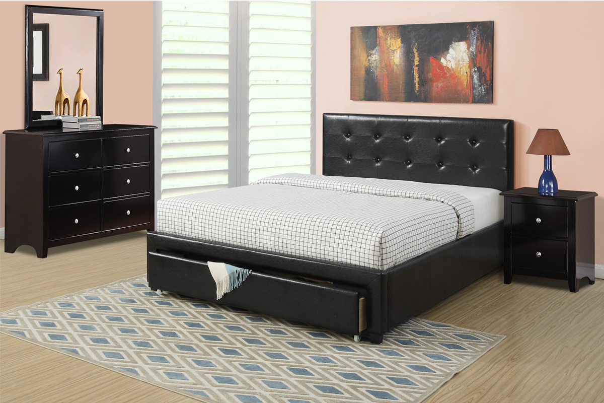 F9313 Queen Bed Frame Furniture Mattress Los Angeles And