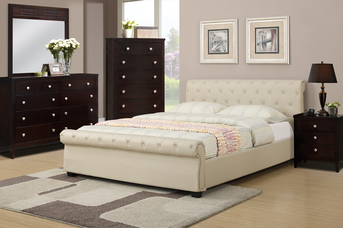 F9245 Queen Bed Frame – Furniture Mattress Los Angeles and El Monte