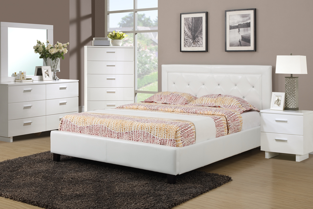 F9247 Queen Bed Frame – Furniture Mattress Los Angeles and El Monte