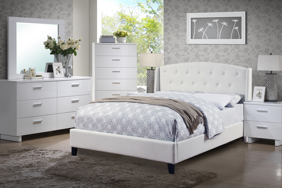 F9296 Queen Bed Frame – Furniture Mattress Los Angeles and El Monte