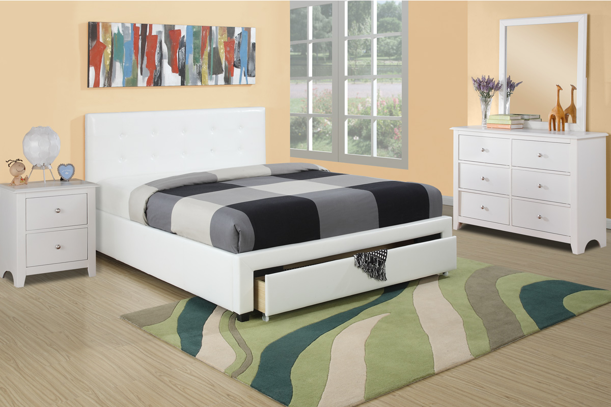 F9314 Queen Bed Frame Furniture Mattress Los Angeles And El Monte