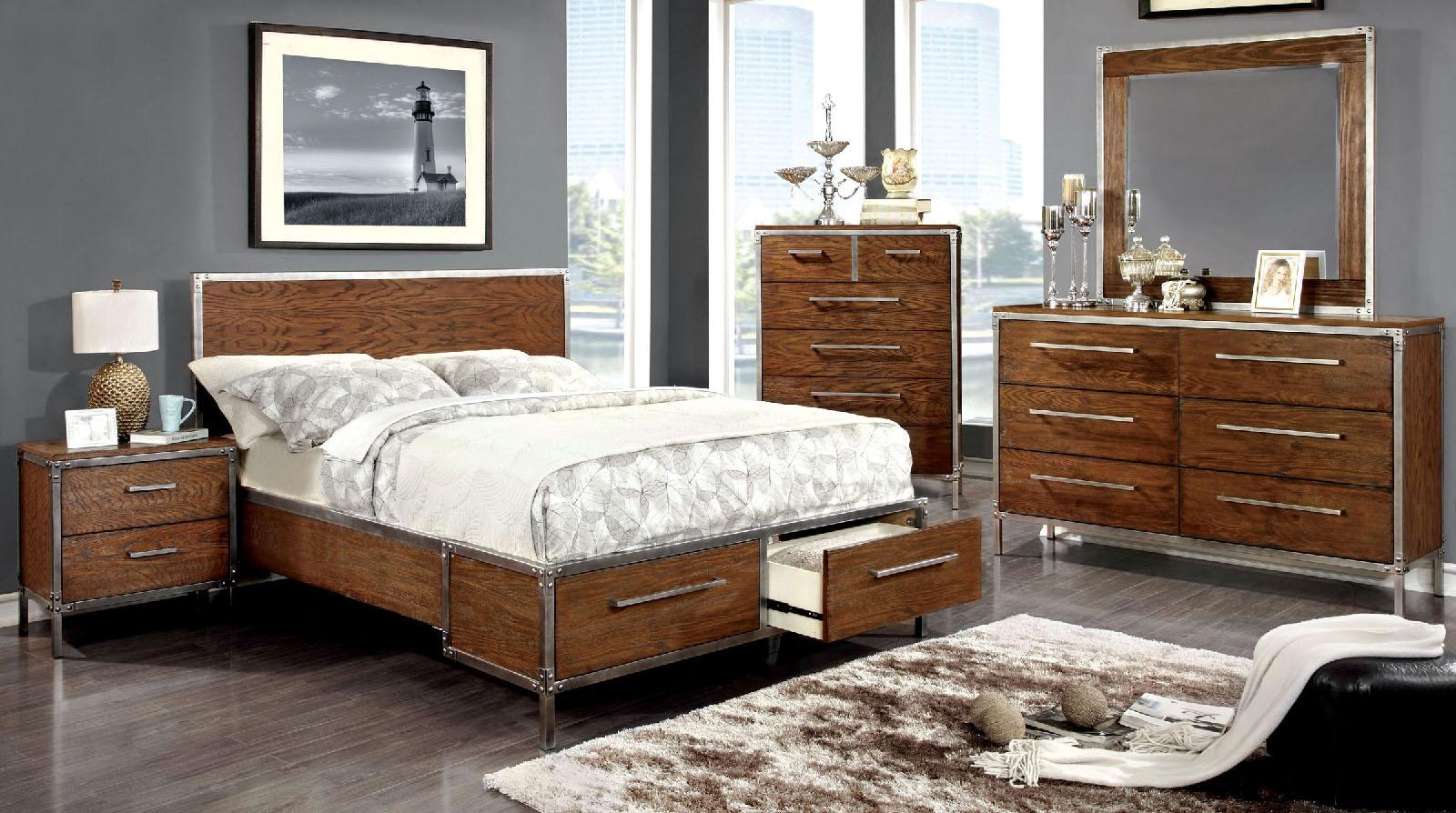 FOA Wood Bed Frames