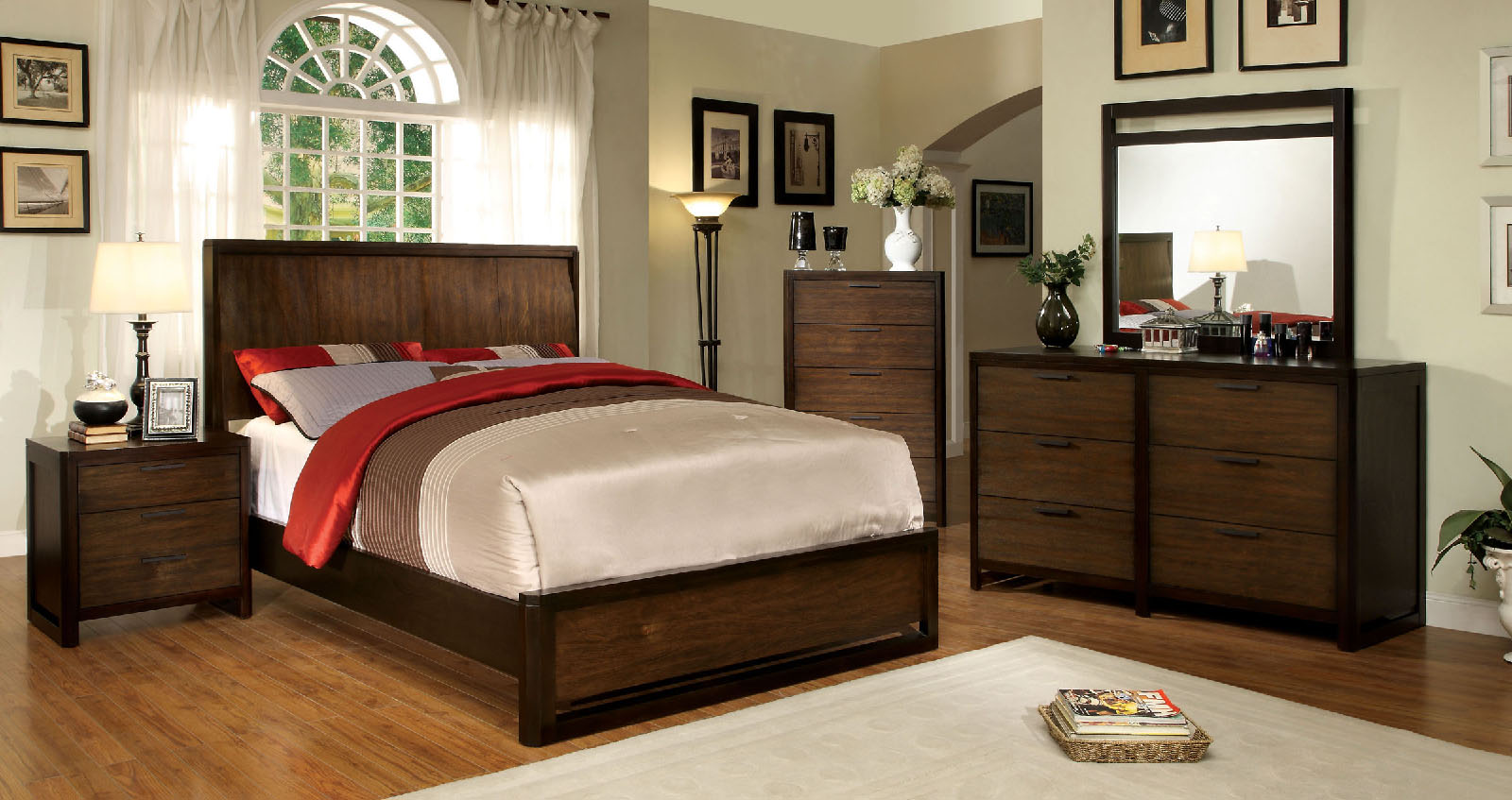 Bisbee Cm7607 4pc Bedroom Set Furniture Mattress Los Angeles And El Monte