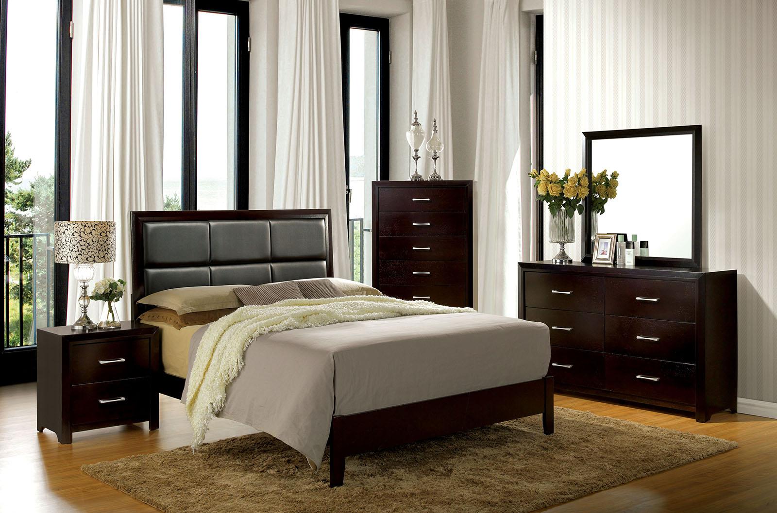 Janine cm7868 4pc bedroom set furniture mattress los - Bedroom furniture sets los angeles ...