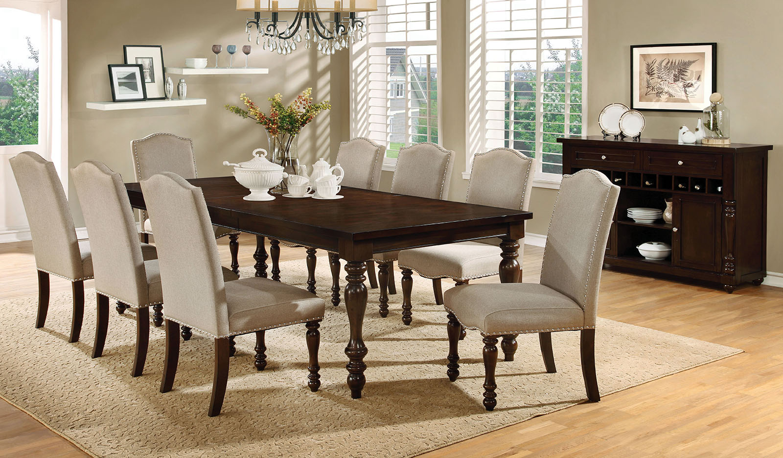 Hurdsfield CMT Pc Dining Set Furniture Mattress Los Angeles - Kitchen table los angeles