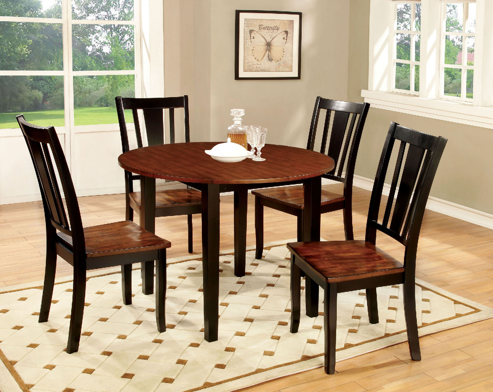 Dover Ll CM3326BC RT 5Pc Dining Set