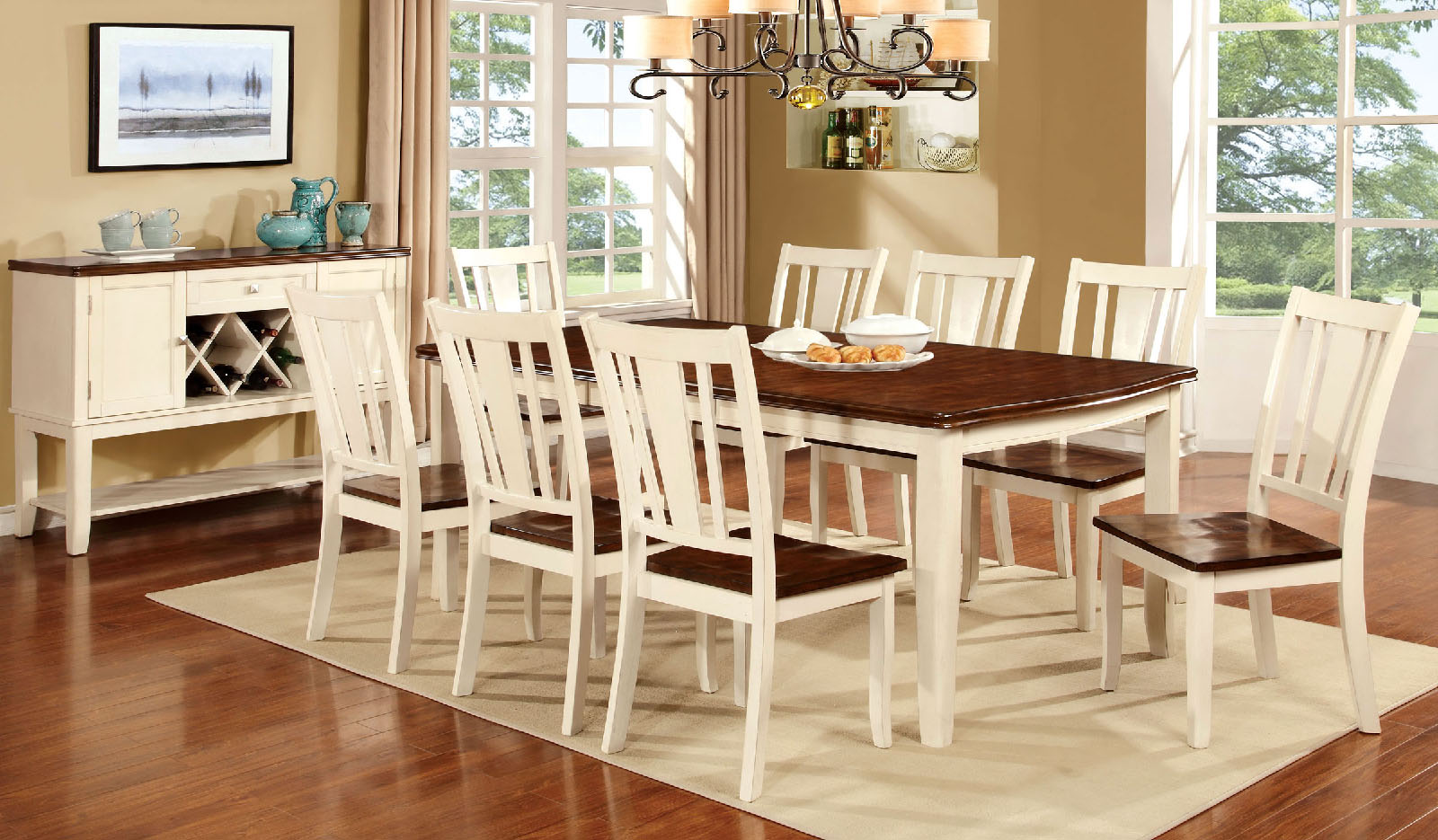 Dover CM3326WC T 9Pc Dining Set