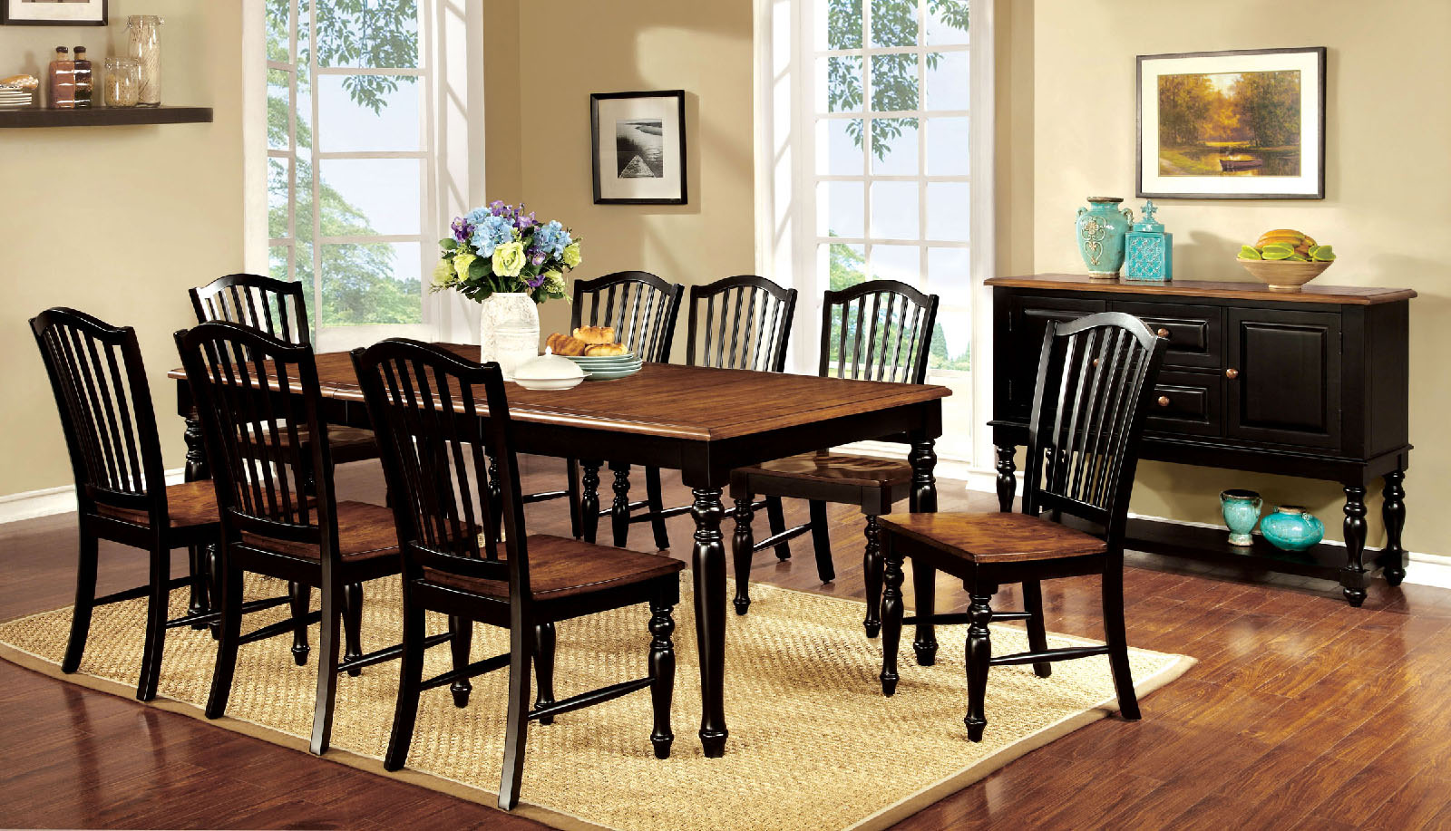 Mayville CM3431T 9Pc Dining Set
