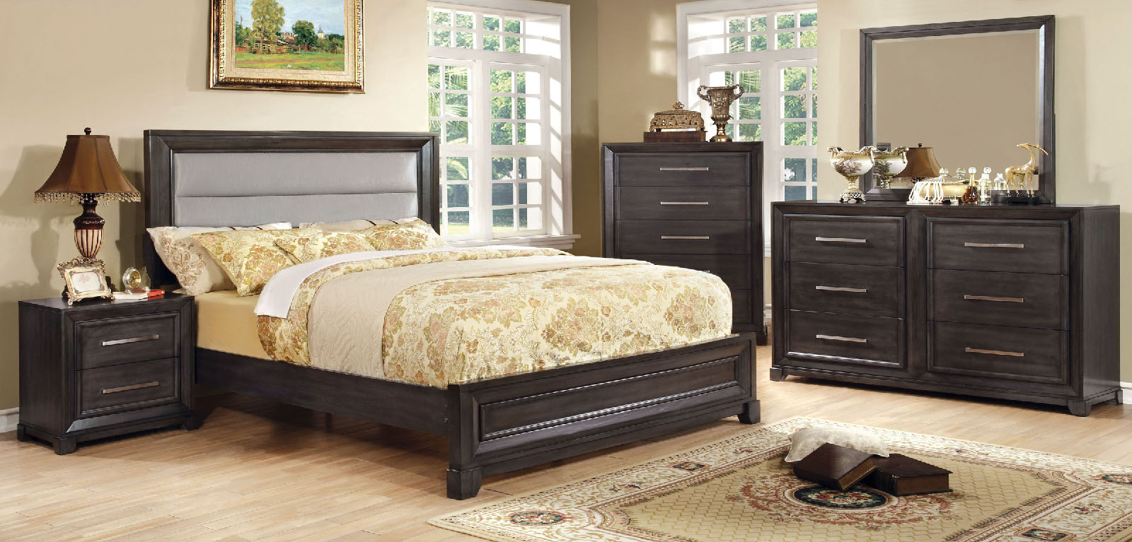Bradley Cm7790 4pc Bedroom Set Furniture Mattress Los Angeles And El Monte