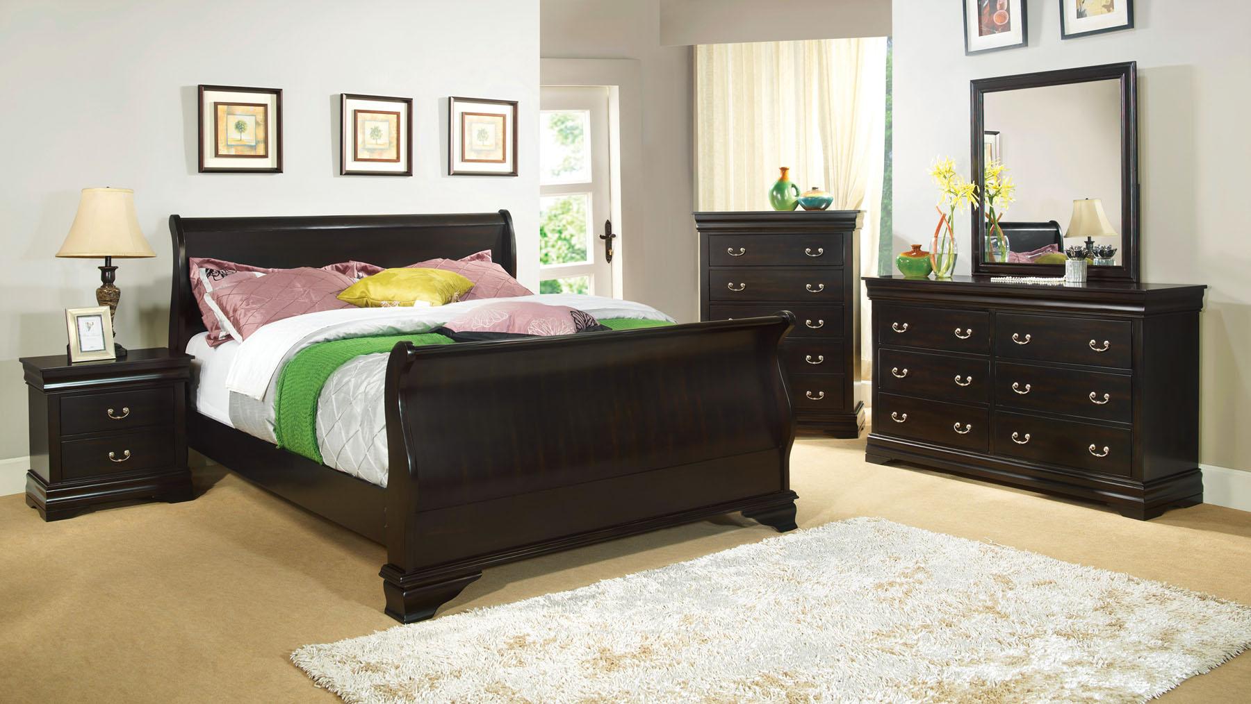 Laurelle cm7815bk 4pc bedroom set furniture mattress los - Bedroom furniture sets los angeles ...