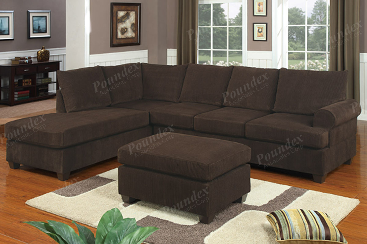 Sectional F7135 Chocolate Furniture Mattress Los Angeles And El  ~ Chocolate Sectional Sofa Set With Chaise