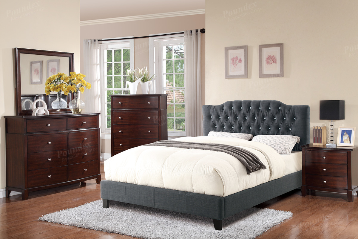 F9333 Queen Bed Frame – Furniture Mattress Los Angeles and El Monte