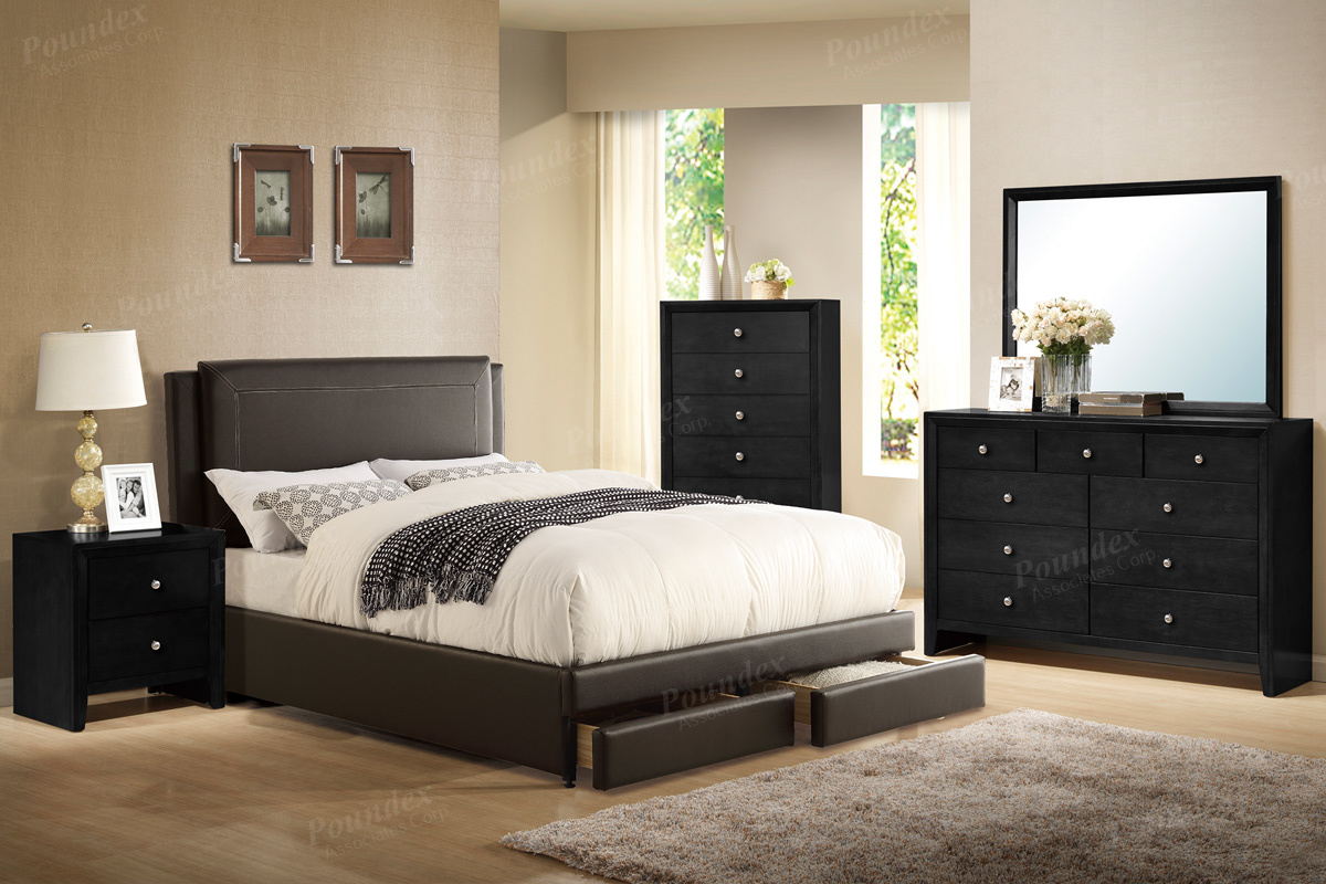 F9335 Queen Bed Frame – Furniture Mattress Los Angeles and El Monte