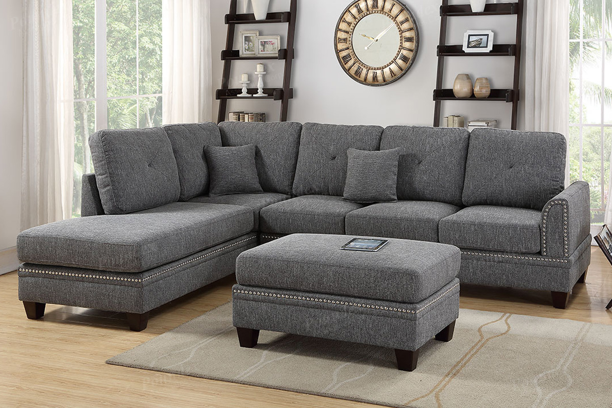 Sectional F6511 With Ottoman Furniture Mattress Los