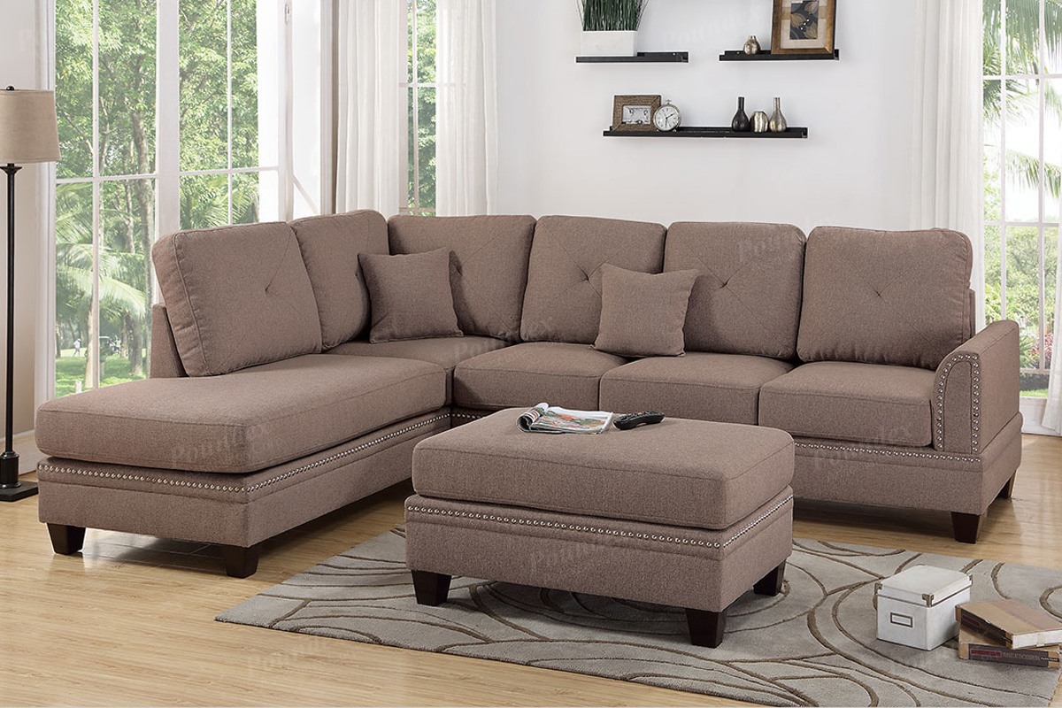 Pleasing Sectional F6513 With Ottoman Gmtry Best Dining Table And Chair Ideas Images Gmtryco