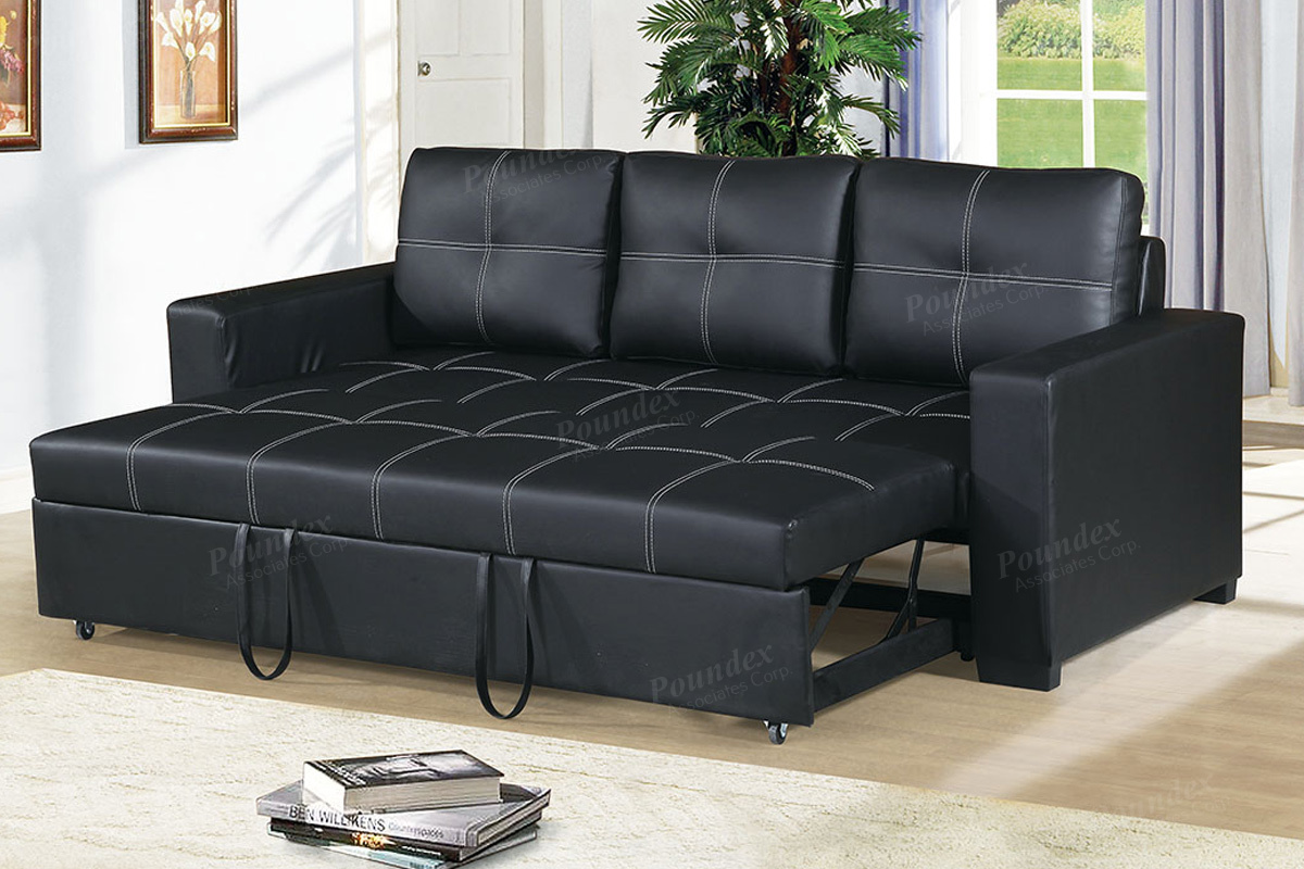 Convertible Sofa Compact F6530 Black