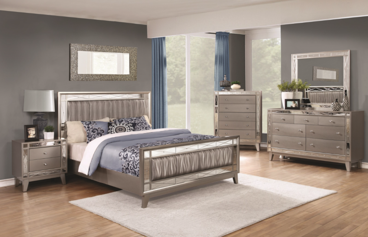 Leighton 4pc Bedroom Set Furniture Mattress Los Angeles
