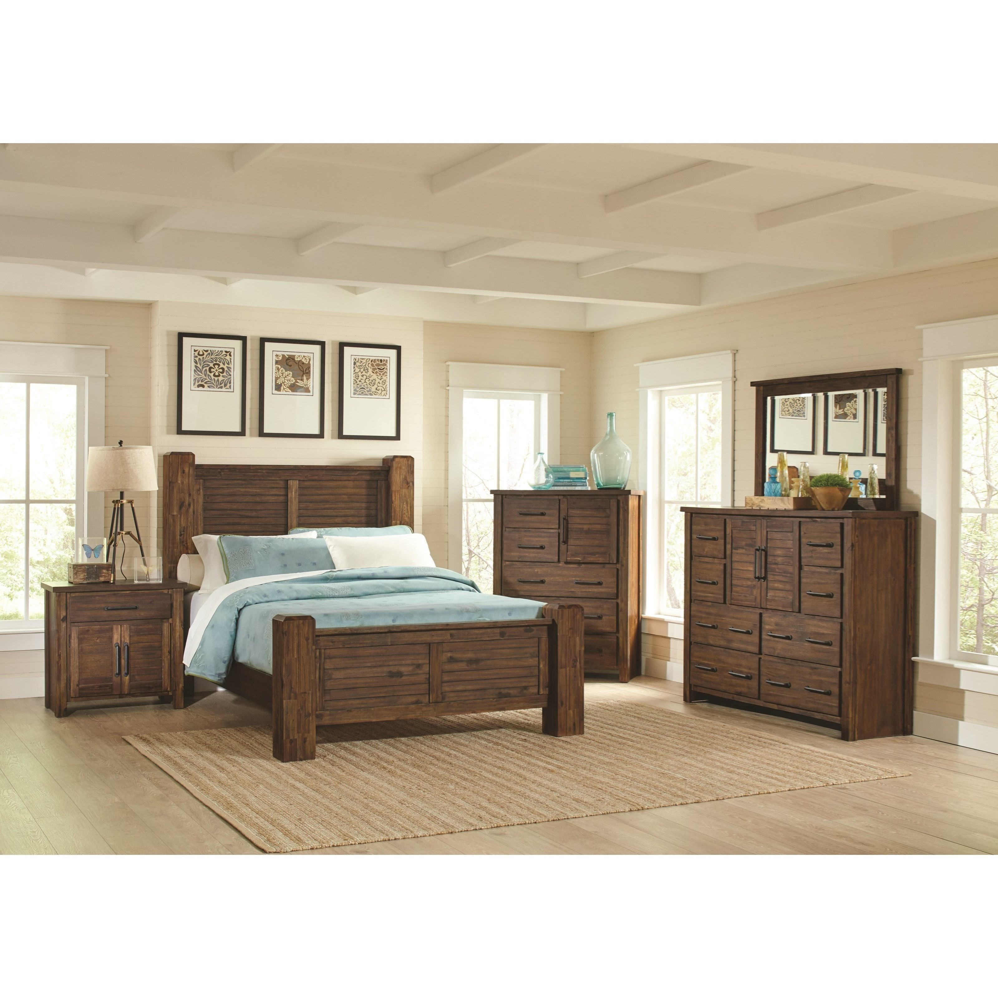 Sutter Creek 4pc Bedroom Set Furniture Mattress Los