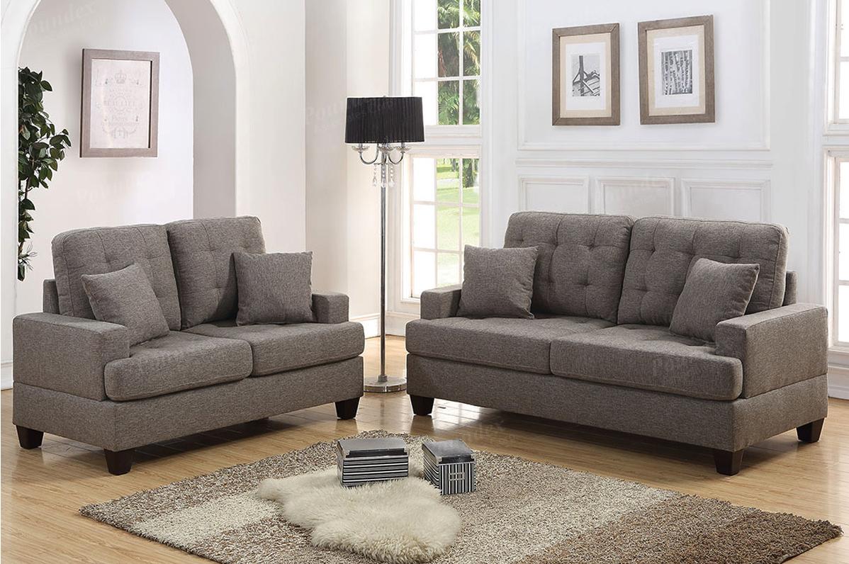 2 Pc Sofa Set F6501 Coffee Furniture Mattress Los