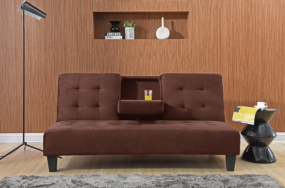 Fabulous Futon 7501 Brown Creativecarmelina Interior Chair Design Creativecarmelinacom